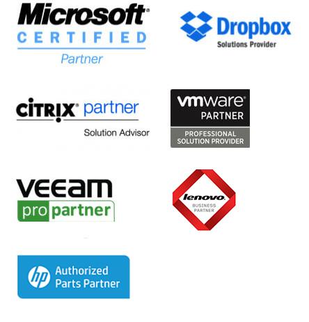 Certifié Microsoft, Dropbox, Citrix, VMWare & Veeam